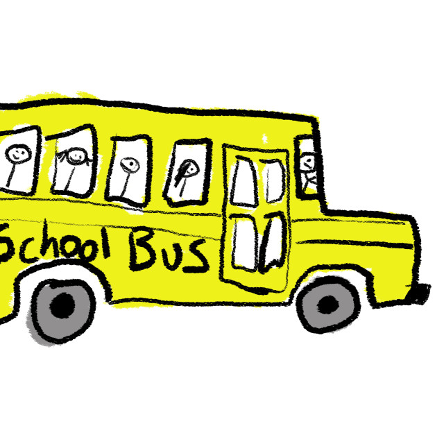"""School Bus"" stock image"