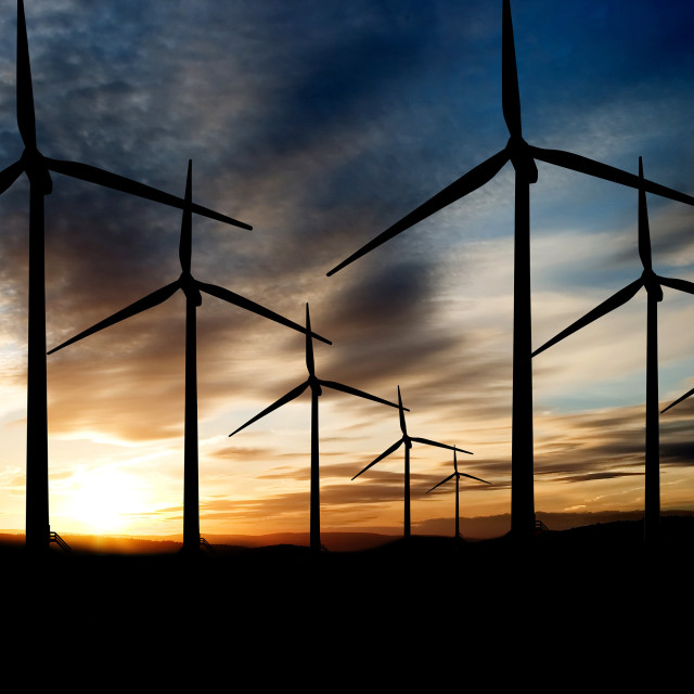 """Wind Farm"" stock image"