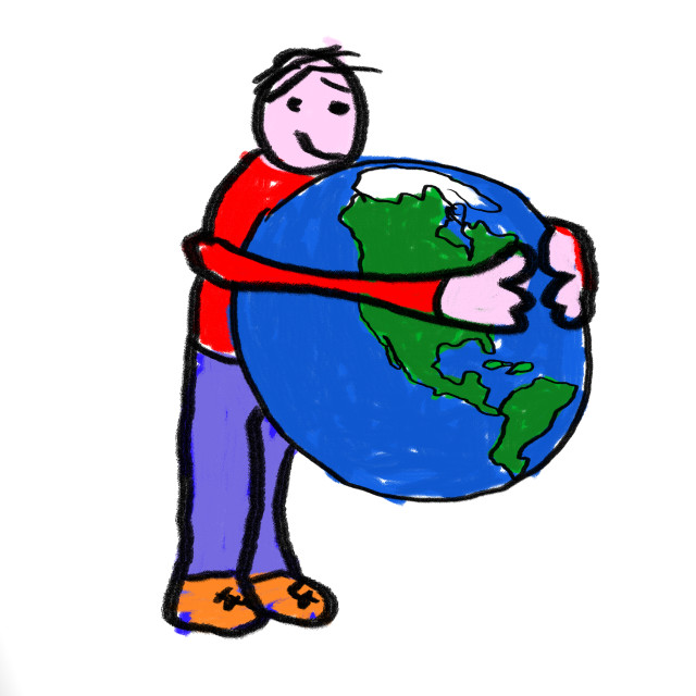 """World Hug"" stock image"