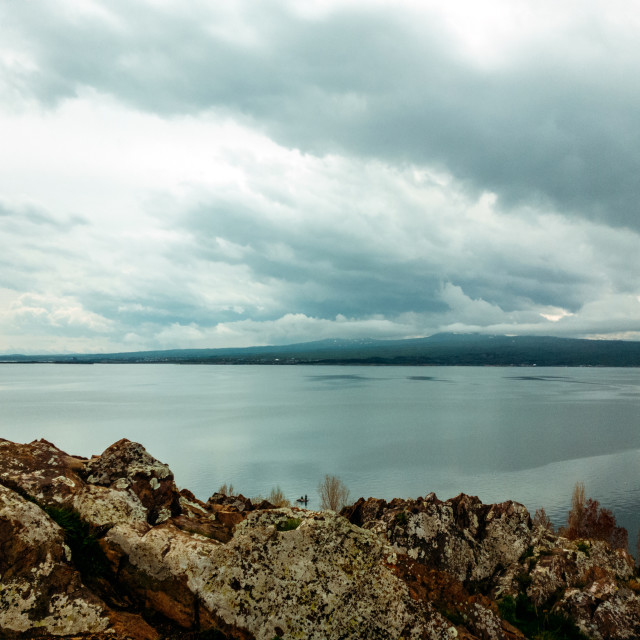 """""""Morning view from the Lake Sevan"""" stock image"""