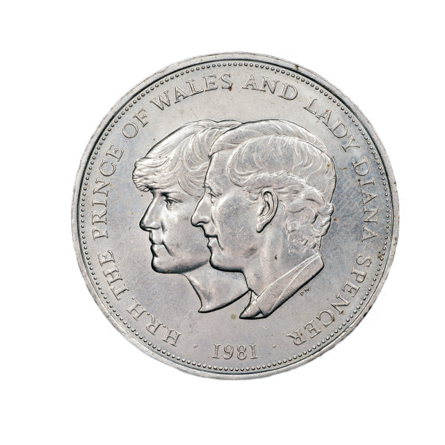 """""""Commemorative coin Royal Engagement 1981"""" stock image"""