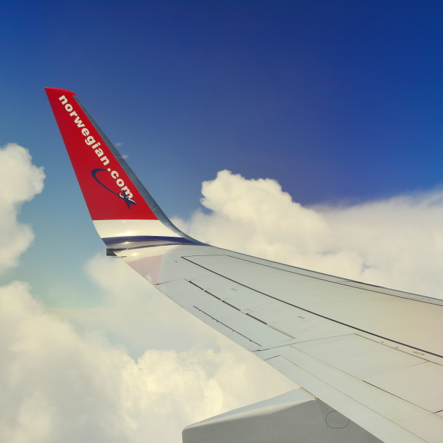 """Norwegian aircraft"" stock image"