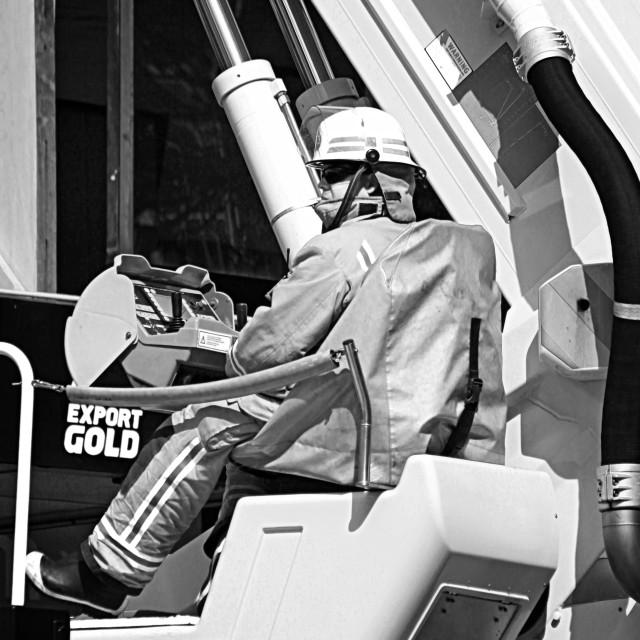 """Fireman Boom Crane"" stock image"