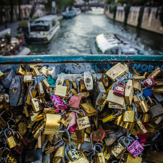 """Padlocks of Paris."" stock image"