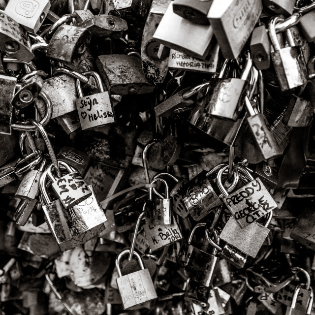 """Padlocks of Paris #2"" stock image"