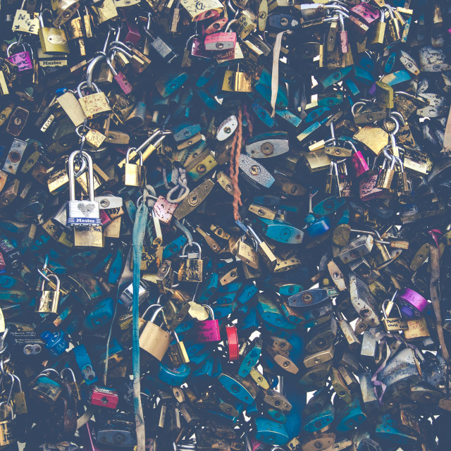 """Padlocks of Paris #3"" stock image"