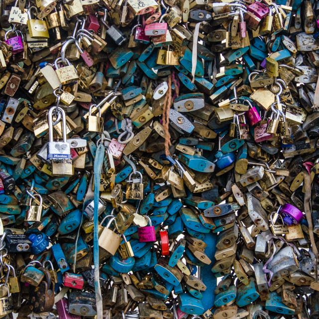 """Padlocks of Paris"" stock image"