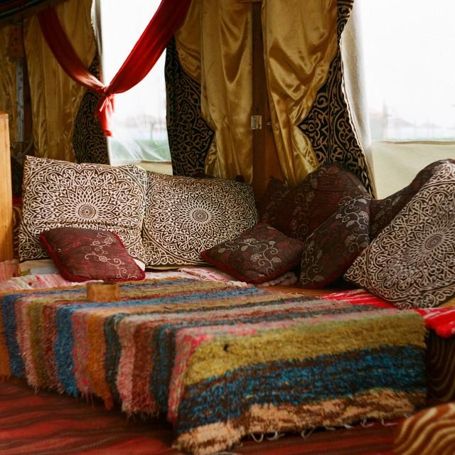 """""""Bedouin style shisha tent"""" stock image"""