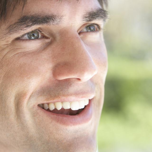 """Portrait Of Man Smiling"" stock image"