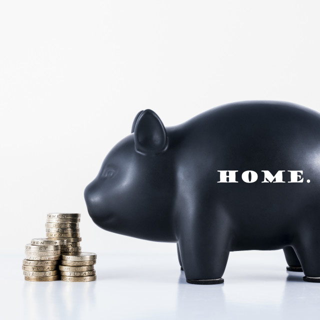 """Piggy Bank Home"" stock image"