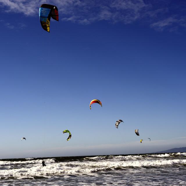 """""""Kitesurfers"""" stock image"""