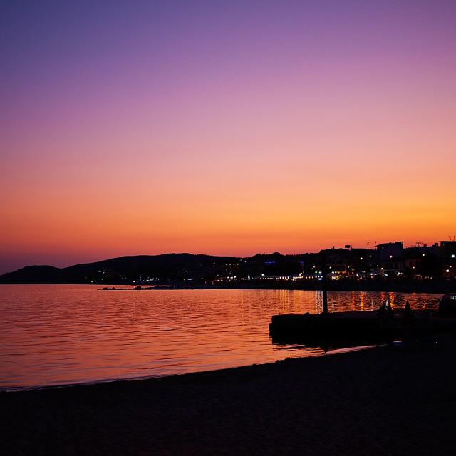 """Post sunset"" stock image"