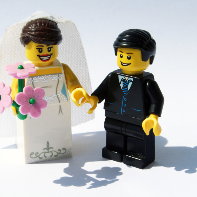 """""""Lego bride and groom"""" stock image"""