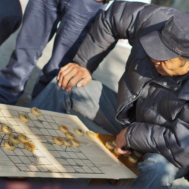 """Chinese Chess Player"" stock image"