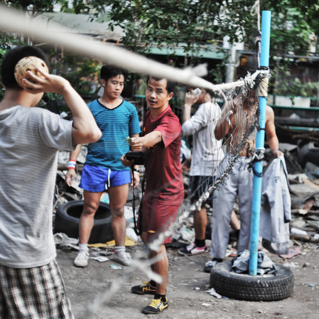 """Bangkok Local Takraw"" stock image"
