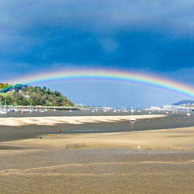 """Rainbow at Conway."" stock image"