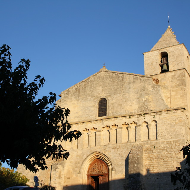 """Church in Provence"" stock image"