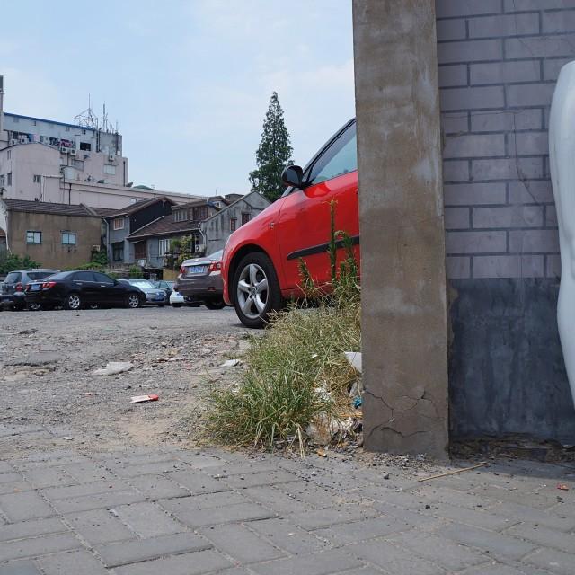 """Mannequin Legs Car Park"" stock image"
