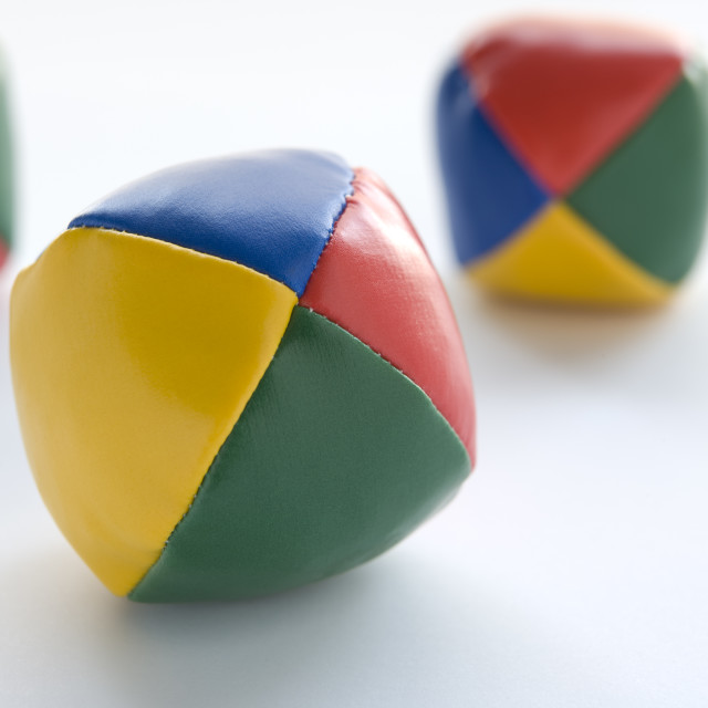 """Three Juggling Balls"" stock image"