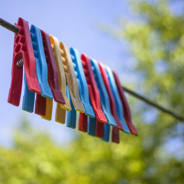 """""""Colorful pegs"""" stock image"""