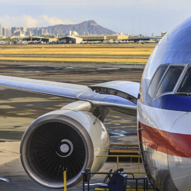 """Honolulu Airport"" stock image"