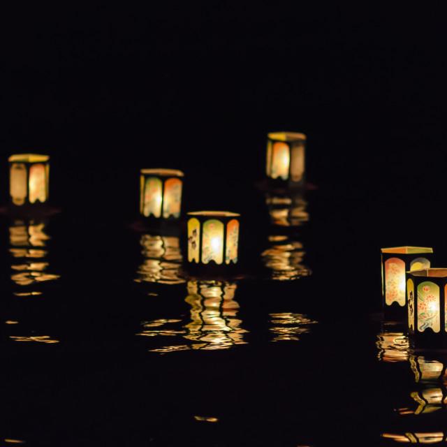 """""""Floating Lanterns"""" stock image"""