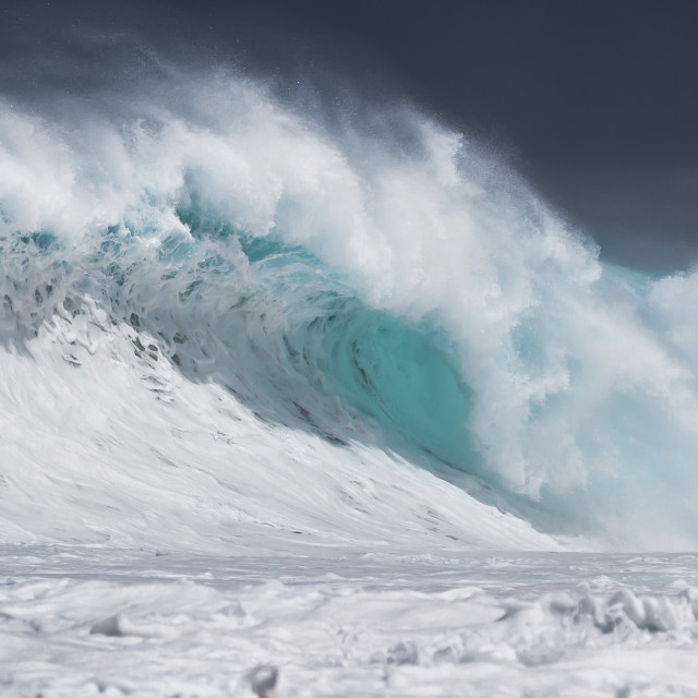"""Big Breaking Wave"" stock image"