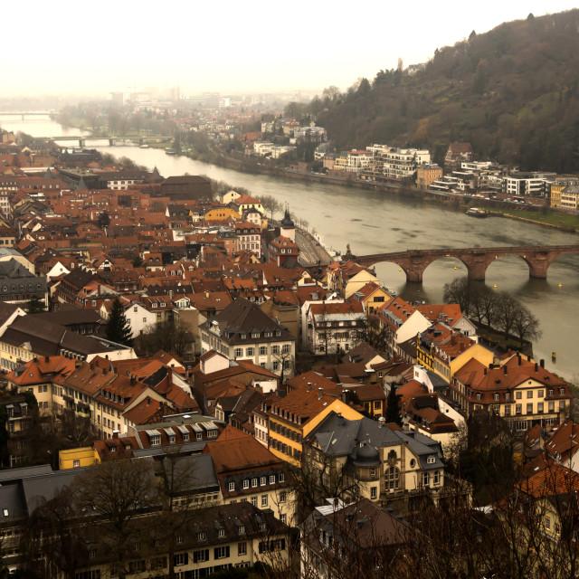 """Heidelberg by Neckar River"" stock image"
