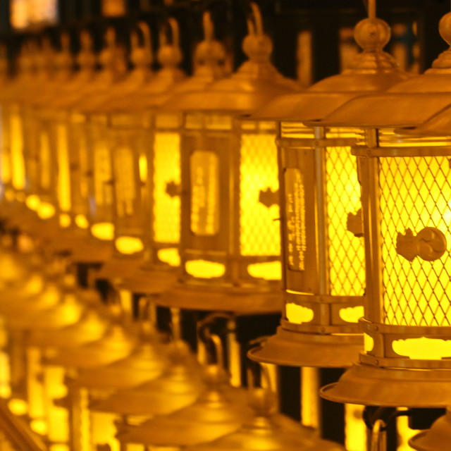 """Golden lanterns"" stock image"