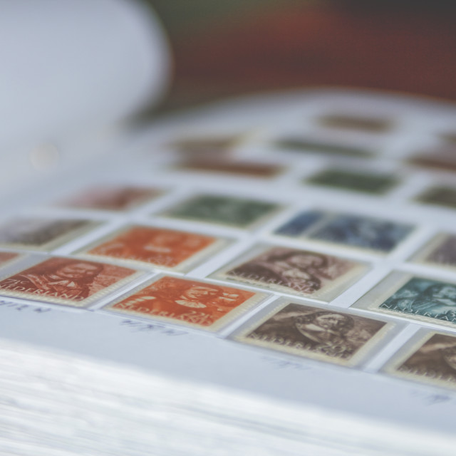 """Dutch stamps"" stock image"