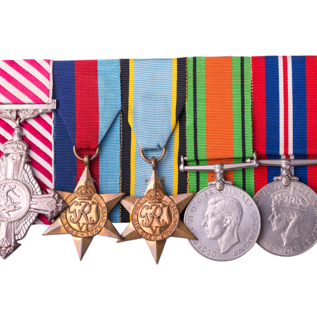 """""""medal group including air force cross"""" stock image"""