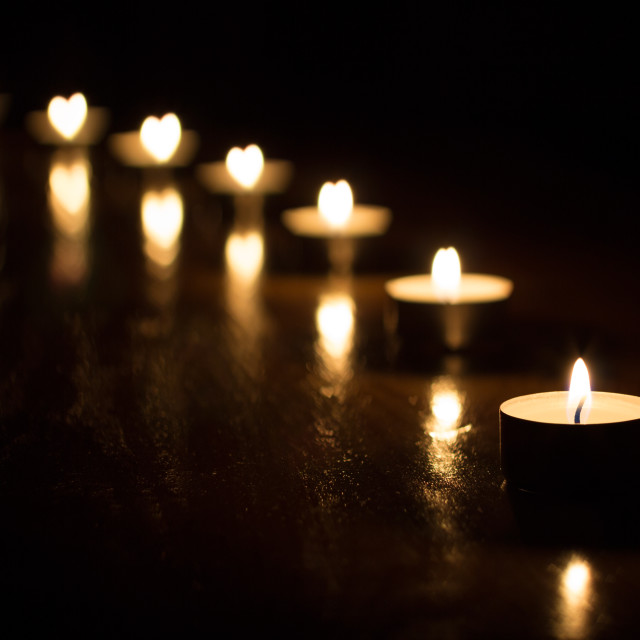"""""""Candles heart"""" stock image"""