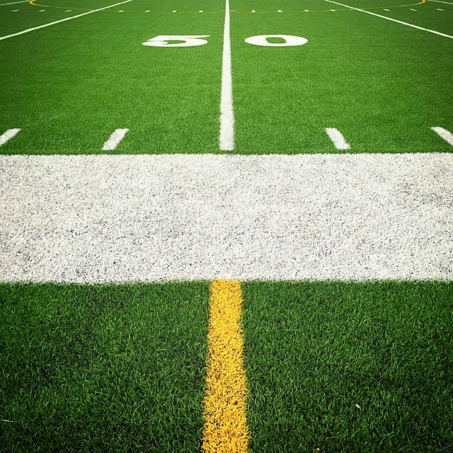 """50 Yard Line"" stock image"
