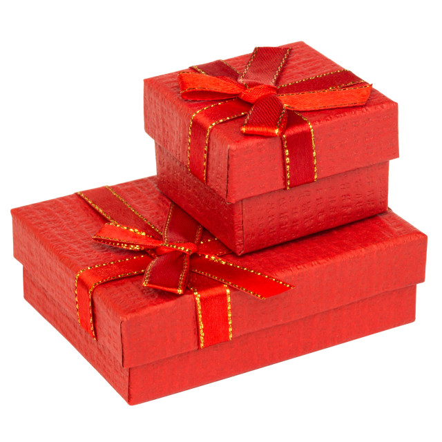 """""""Red gift box with ribbon"""" stock image"""