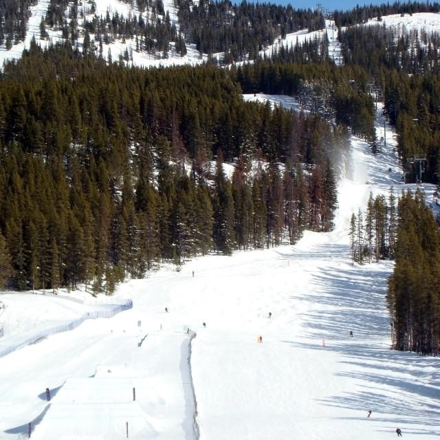 """Ski Hill"" stock image"
