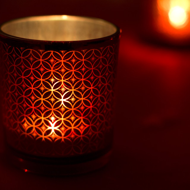 """""""Red candlestick"""" stock image"""