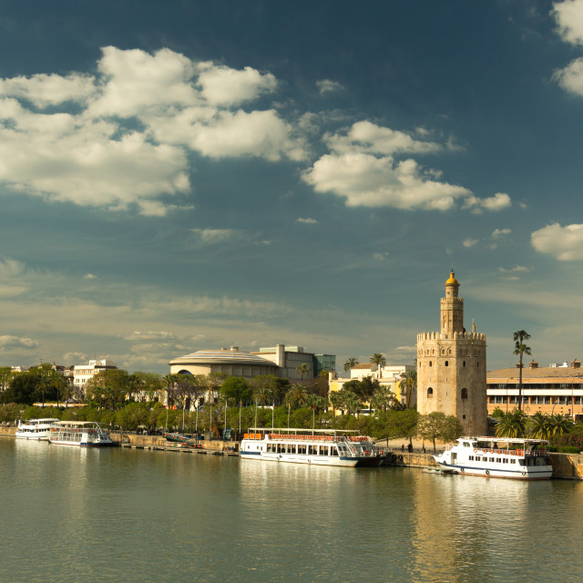 """""""Torre del Oro (Tower of Gold)"""" stock image"""