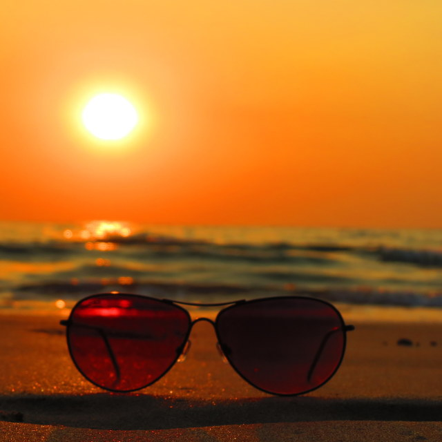 """Sun with Shades"" stock image"