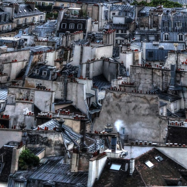 """Paris Chimneys"" stock image"
