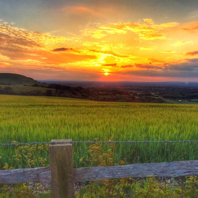 """Sussex Sunset 2"" stock image"