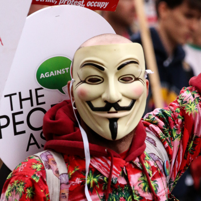 """Strike, Protest, Occupy!"" stock image"