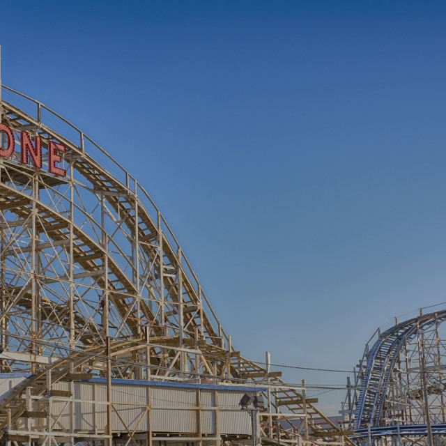 """Cyclone, Coney Island, New York"" stock image"