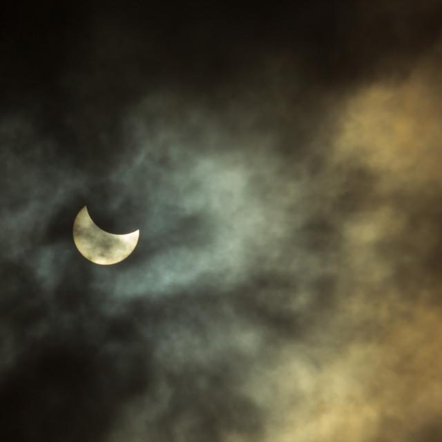 """Partial solar eclipse"" stock image"