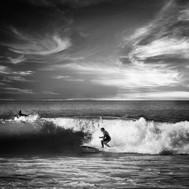"""Basque Country Surf"" stock image"