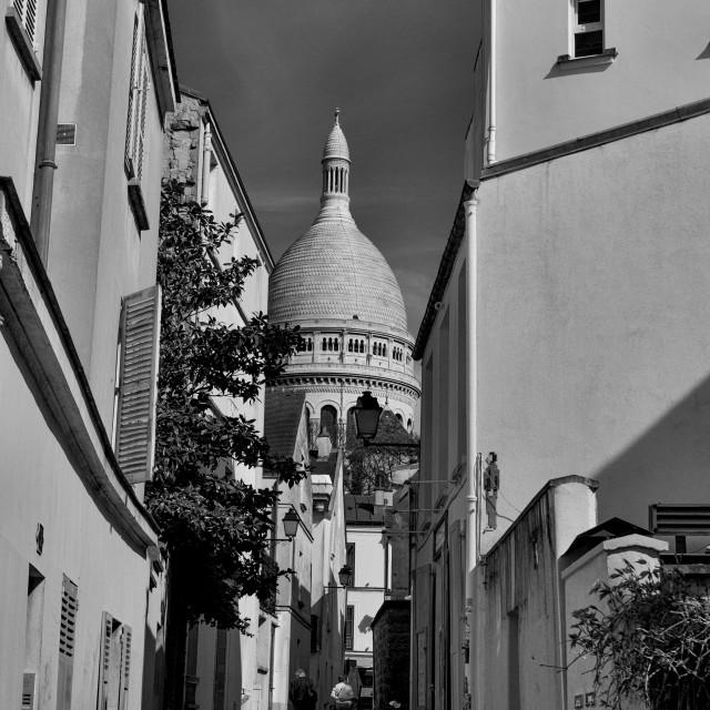 """""""Scare-Coeur Basilica Monochrome"""" stock image"""