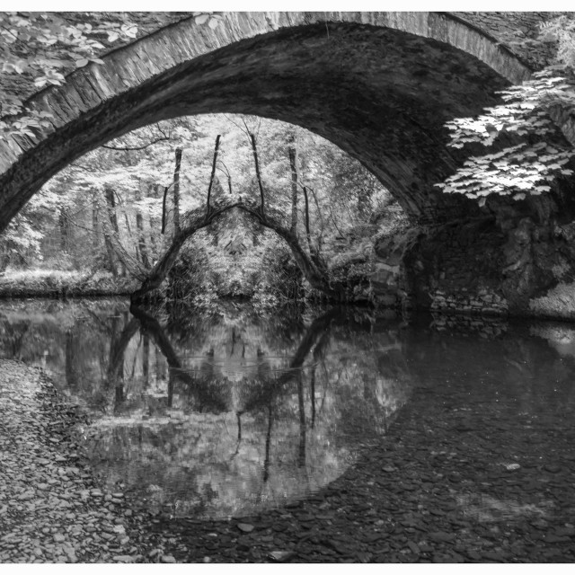 """""""Eye of the bridge"""" stock image"""