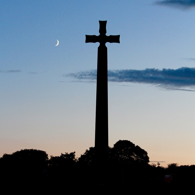"""Cross and moon"" stock image"