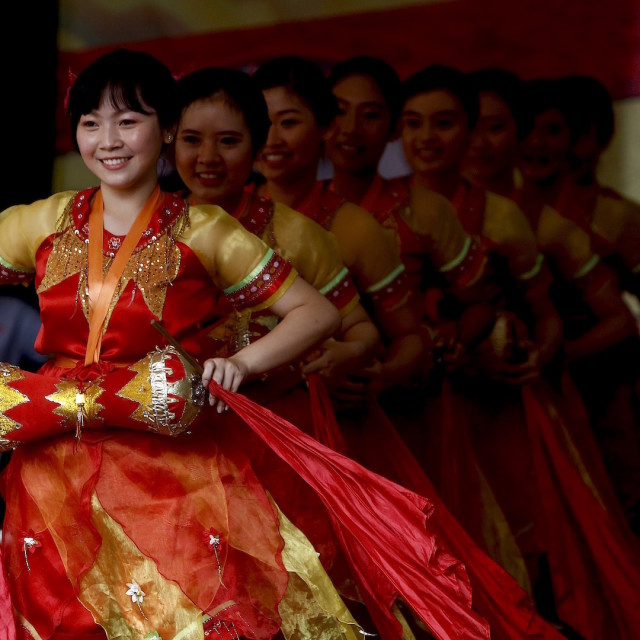 """Traditional dances china"" stock image"