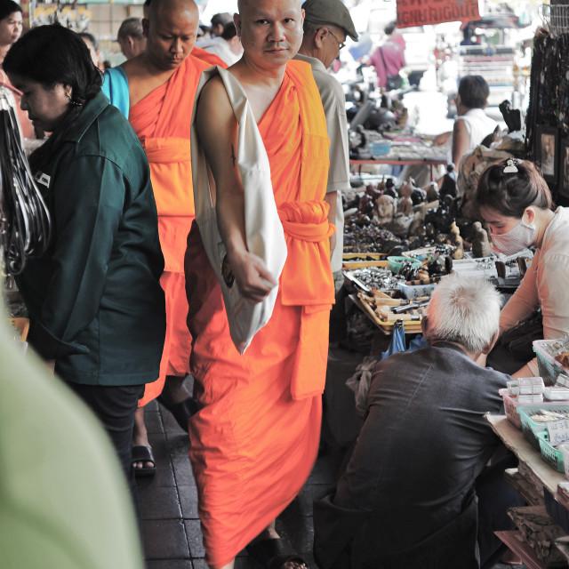 """Bangkok Monk"" stock image"
