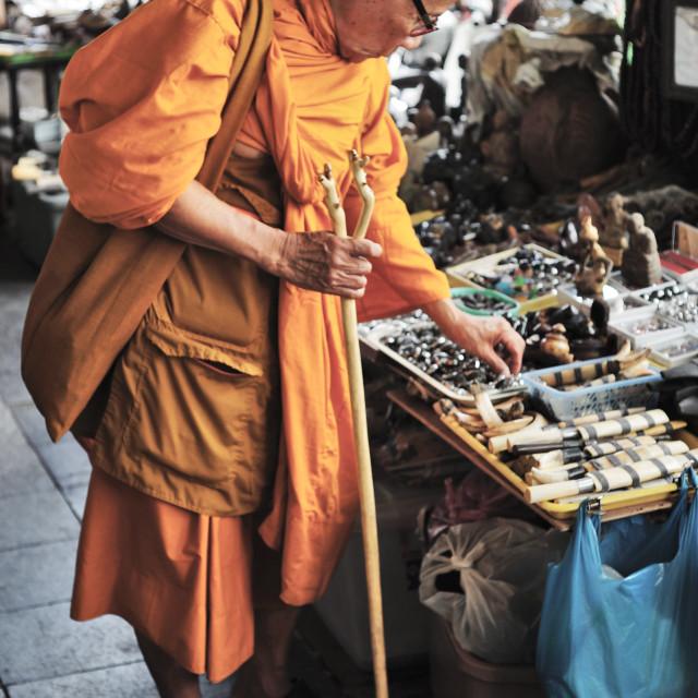 """""""Monk Browsing"""" stock image"""